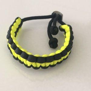 Other - Men's cobra bracelet- black and neon yellow. New.